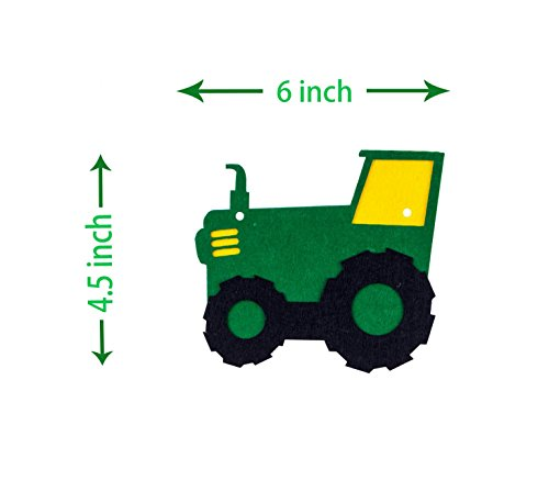 Green Tractor Birthday Banner - decorations - party supplies - party banners - john deere by JAGGER M (Image #2)