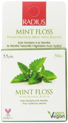 Rayon Vegan xylitol naturel Mint, éponge Floss, 55 cour