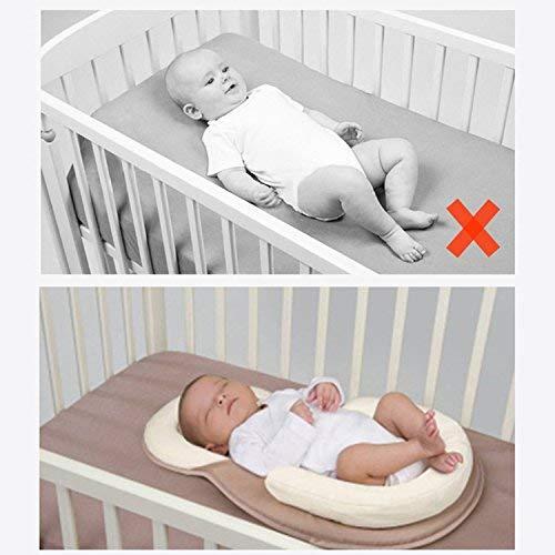 AMZT – Baby Bed Mattress - Newborn Sleep Positioner Infant Body Support Crib Bumper Nursing Pillow Anti Roll Sleeping Cushion (Beige) by AMZT (Image #3)
