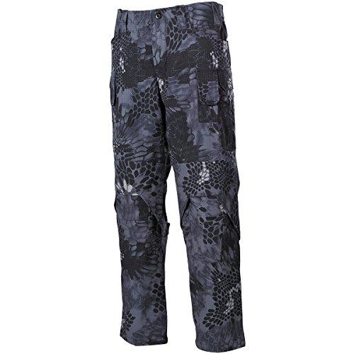 MFH Hommes Mission Combat Pantalon Ripstop Snake Noir taille L