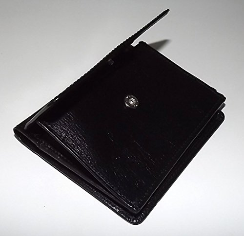 Wallet ID Giudi Italia Black Men's Leather Tuscan L Clip Money fold wgz8qwR