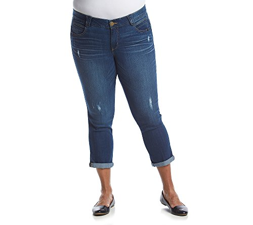 Democracy-Womens-Plus-Size-Ab-Solution-Blue-Ankle-Skimmer