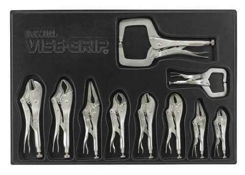 TOOLS GOO HOLD HIGH New Professional Locking Plier Tool Set And C-Clamp Set US Stock