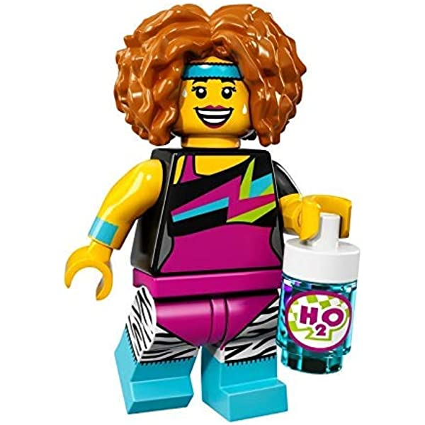 LEGO Mini Figure Fitness Instructor Workout Lady with Boombox Series 5 # 8805