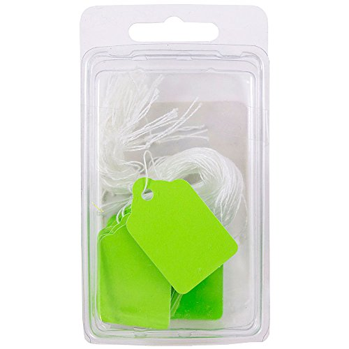 Lime Green String - JAM PAPER Gift Tags with String - Mini - 1.75 x 1.09 - Lime Green - 50/Pack