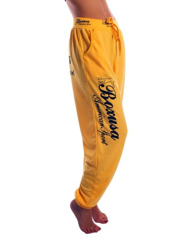 CINC Damen Jogginghose Boxusa American Style - Größe: L - Farbe: Gelb - 19450
