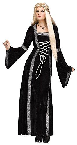 Fun World Women's Throne Queen Costume, Black, (Queen Of Thrones Adult Costumes)