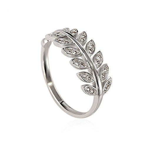 Great Selection!Women Lady Girl Fashion Platinum Plated High Polished Ring Adjustable (Oak Leaves - Sunglasses Leaf Oak