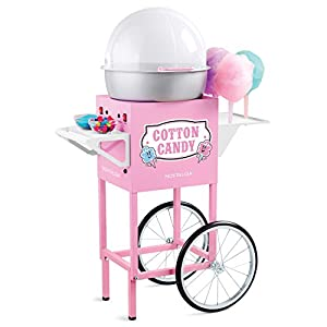 Nostalgia CCM600 Vintage Commercial Cotton Candy Cart - 50 Inches Tall