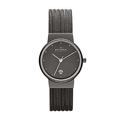 Skagen Women's 355SMM1 Ancher Grey Mesh Watch