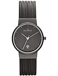 Skagen Womens 355SMM1 Ancher Grey Mesh Watch