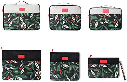 パッキングキューブ、6つの荷物オーガナイザーのセット、スーツケースの収納袋、 旅行のための梱包
