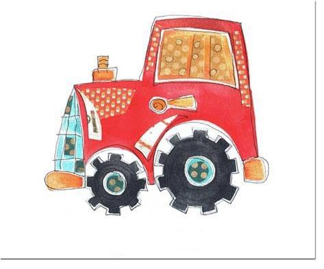 Traktor Matte, A3, Laminat-Teppiche, Kleinkind Mats, Kindergarten Futtermatte