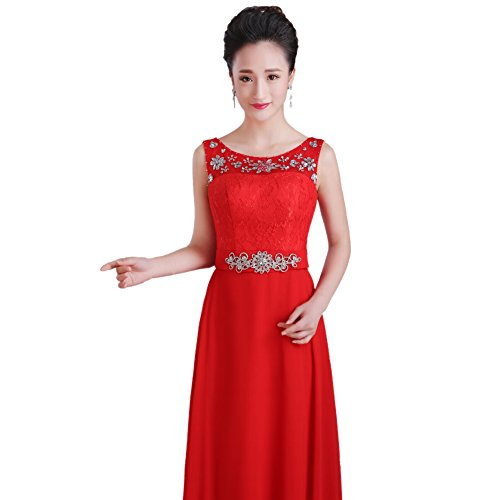 Sashes Women's Dresses Evening A line Formal Crystal AK Beauty Sleeveless 5txwZq5g7