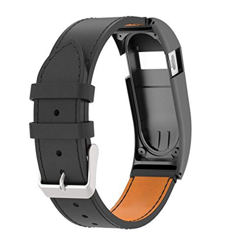 Alonea Fitbit Charge HR Watch Band, Luxury Leather Replacement Wrist Band Strap With Case For Fitbit Charge HR (A) by Alonea