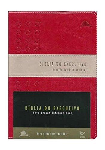 Biblia Nvi Do Executivo  Capa Luxo Vinho E Prateado