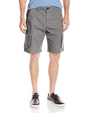 Men's Everyday Deluxe 21 in. Cargo Shorts and HDO Travel Sunscreen (15 SPF) Spray Bundle