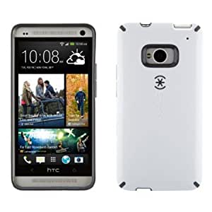 Bloutina Speck Products SPK-A1979 CandyShell Glossy Case for HTC One Smartphone - 1 Pack - Retail Packaging - White/Slate...