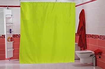 Wohnideen Shop wohnideenshop duschvorhang uni grün 120cm breit x 200cm lang textil