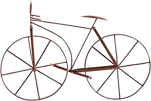 Cheap Bicycle Wall Sculpture, 24.5″Hx39.5″W, RUSTIC BROWN