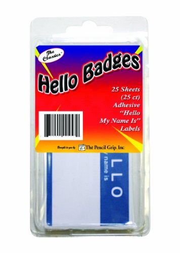 Classics Hello Badge Labels TPG 457