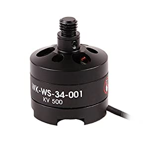 HobbyFlip 9 x Quantity of Walkera TALI H500 FPV 5.8Ghz Black Brushless Motor TALI H500-Z-11 Levogyrate Thread WK-WS-34-001 for Hexacopter by Walkera
