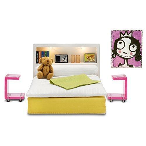 Lundby 60.9047.00 - Schlafzimmer, Minipuppen mit Zubehör