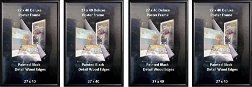 Poster Art House Wood 27-Inch-by-40-Inch Poster Frame, Black