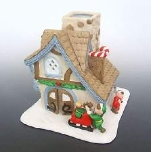 (Partylite Christmas Village Santa's Workshop Porcelain 6
