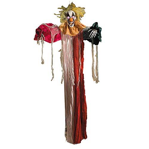 Fun Express LED Hanging Clown - Halloween Decor (Clown Inflatable)