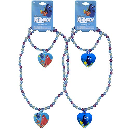 Girls Disney Pixar Licensed Finding Dory Matching Jewelry 2pc Necklace and Bracelet Set
