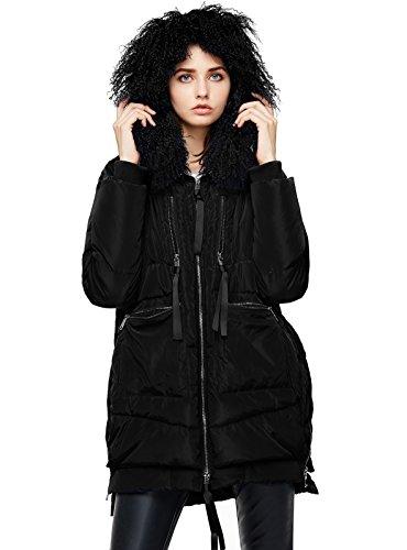 ANNA&CHRIS Womens Down Jacket with Fur Trim Hood Warm Parka Thicken ()