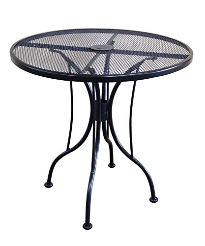 Sturdy Round Metal Mesh Outdoor Patio Dining Table 36