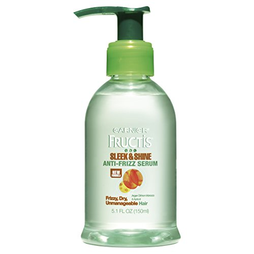 Garnier Fructis Sleek & Shine Anti-Frizz Serum, Frizzy, Dry,