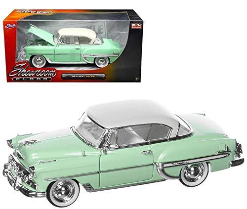 Jada 98884 1953 Chevrolet Bel Air Light Green Showroom Floor 1/24 Diecast Model Car ()