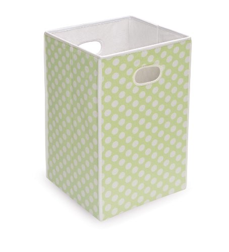 Folding Square Fabric Laundry Hamper or Storage and Toy Bin (Hamper Classic)