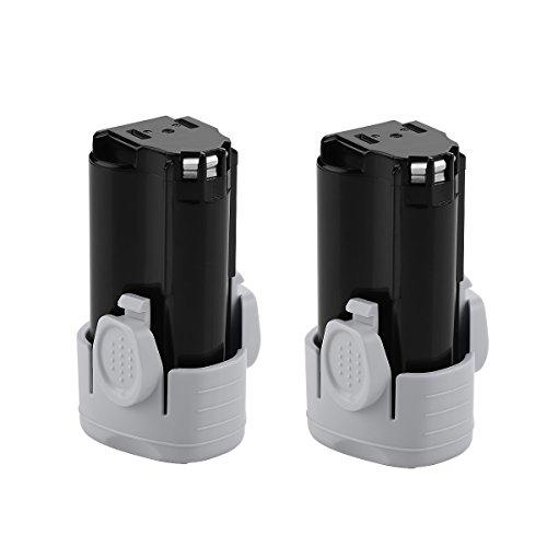 Energup 2Pack 2500mAh 12 Volt Lithium ion Replacement Battery for Black & Decker LBXR12 LBX12 BL1510 BL1310 BL1110 LB12 Black Decker 12v Lithium Battery