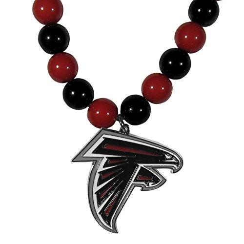 Necklace Beaded Nfl - NFL Atlanta Falcons Fan Bead Necklace,  24