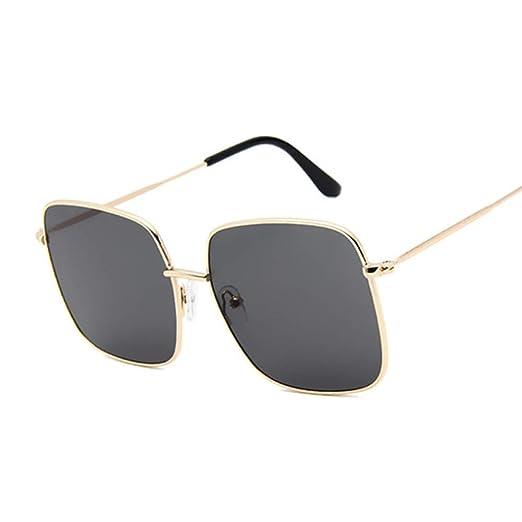 Yangjing-hl Gafas de Sol cuadradas Grandes y Retro Gafas de ...