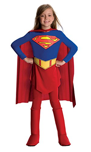 Supergirl Child Halloween Costume, Red, Small