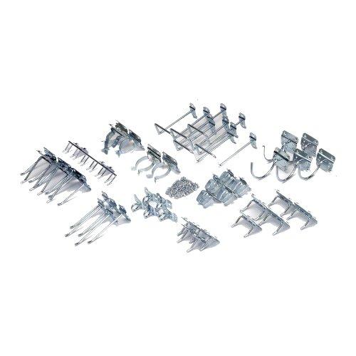 Triton Products LH1-KIT LocHook 46-Piece Zinc Plated Steel Hook Assortment for Locboard by LocHook