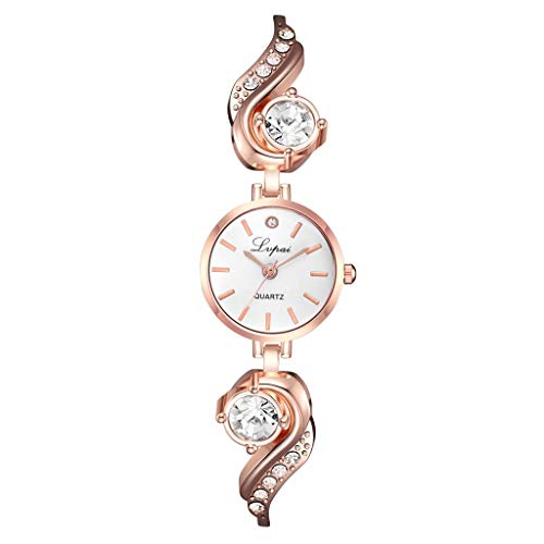 (LUXISDE Watch Women European and American Simple Casual Small and Delicate Women's Bracelet Watch A)