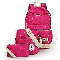 حقيبة ظهر مدرسية قماش للبنات - لون احمر
