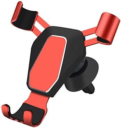 自動車電話ホルダー重力センサー車のアウトレット金属重力ブラケットナビゲーションブラケット (Color : Red)