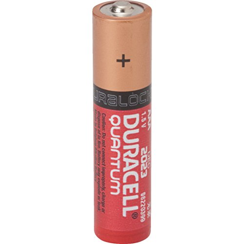 Duracell Quantum QU2400B12Z11 Alkaline-Manganese Dioxide AAA Battery, 1.5V, -4 to 130 Degrees F (Pack of 24)