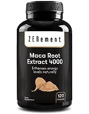 Peruansk maca-rotextrakt med högkoncentrerad 4 000 mg, 120 kapslar   bidrar till att förbättra den naturliga energimivån hos   från Zenement