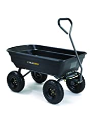 Gorilla Carts Poly Garden Dump Cart with Steel Frame and 10-i...