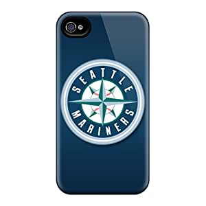 Iphone 4/4s FDC13591IwwK Allow Personal Design High-definition Seattle Mariners Series Shock-Absorbing Hard Phone Covers -MansourMurray