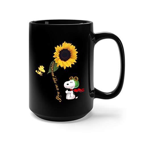 You Are My Sunshine Sun Flower Snoopy Ceramic
