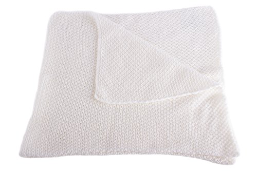Unisex Super Soft 100% Cashmere Baby Blanket - 'White' - hand made in Scotland by Love Cashmere